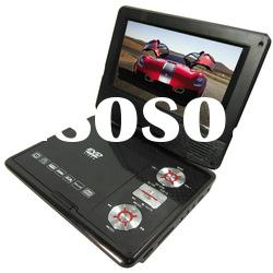 newest design 7inch portable DVD player with Audio-video output/input function KSD-718(16:9)