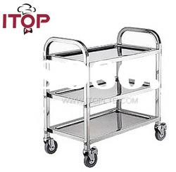 stainless steel AISI201 3 Tiers Assembled Dinning Cart