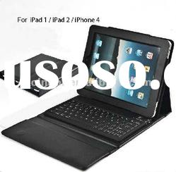 wireless leather case bluetooth keyboard for ipad