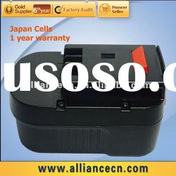 18V Cordless Drill Battery for BLACK & DECKER A14/HPB14,Sanyo Cells