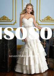 2012 New Strapless Luxe Taffeta and Organza Mermaid Style Tiered Skirt Wedding Dresses