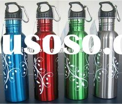 750 ml/25 oz wide mouth single wall stainless steel sports bottle