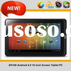 All winner A10 android 4.0 best 10 inch cheap capacitive tablet pc