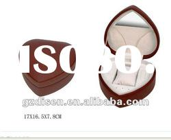 Brown color heart shape watch box for women