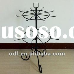 Counter Top Revolving Metal Decorative Display Stand with Pigtail Sign Holder