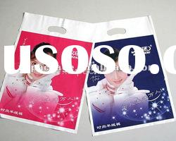 Die cut shopping plastic bags with patch handle
