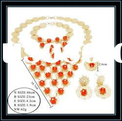 Fashion indian bridal jewelry sets pink