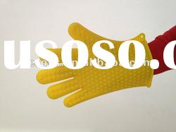 Five fingers heat insulation Silicone cooking glove