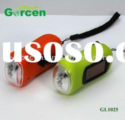 Mini Solar power & Hand powered LED torch