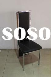 black leather high back dining room chair