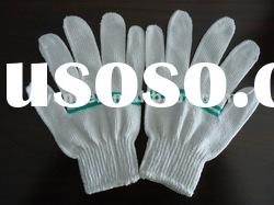 bleached white cotton knitted gloves/10 guage knitting gloves