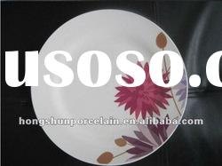cheap white porcelain dinner plate/ceramic dinner plate/ceramic dish/meat plate