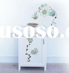 flower shape wall decals and sticker