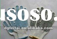 knitted gloves pvc dotted