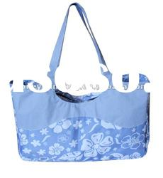 large flower pattern beach bag