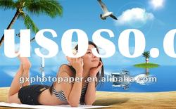 wholesale adhesive inkjet photo paper,waterproof,high glossy,cast coated,135g