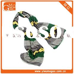 2012 New arrival fashion colourful heart printing cotton scarf