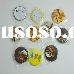 Good selling round shaped plastic button badge for gift set