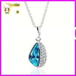 Hot sale design crystal with pendant fashion necklace