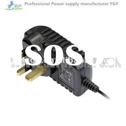 Wall-mount type 12V1A switching adapter,100~240v ac input voltage ,UK plug 18W series