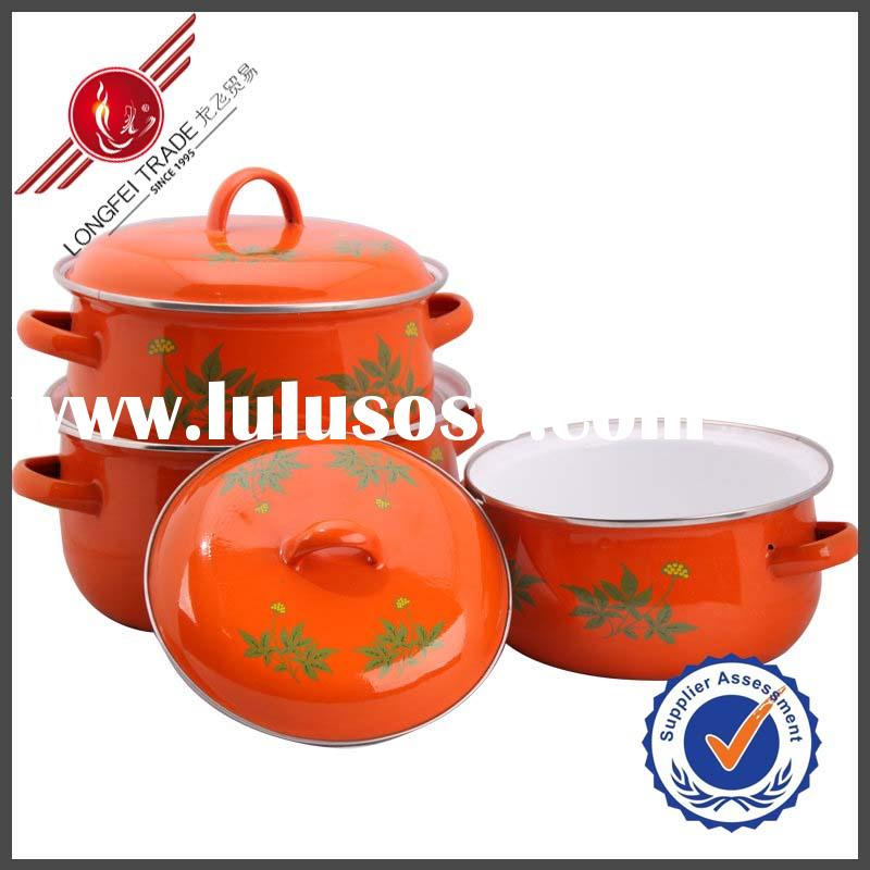 3Pcs Ceramic Pot Enamel Kitchen Tools Utensils And Equipment