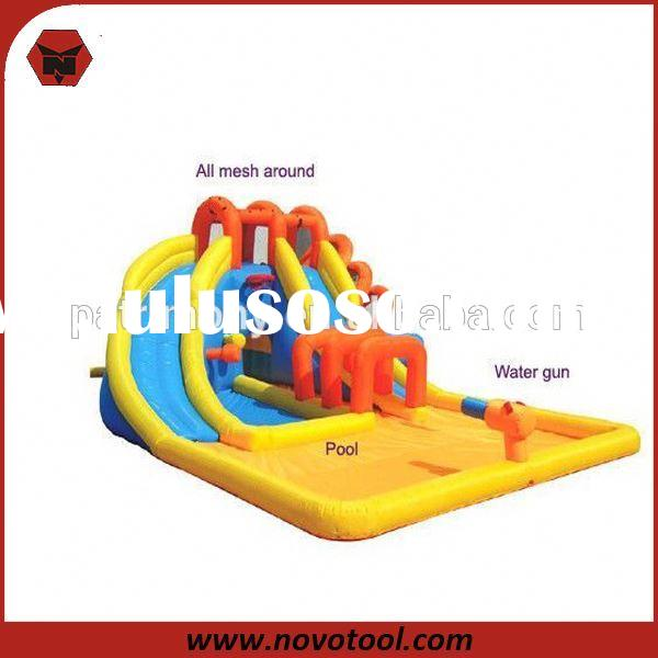 Hot Sale Rent Water Slides Inflatable With Water Gun
