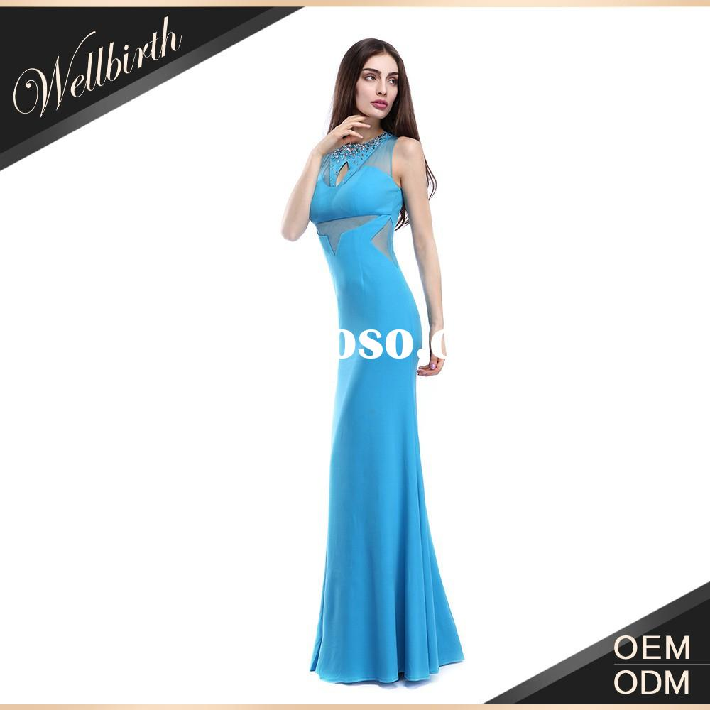 2015 Fashion Blue Ladies Night Dress For Women