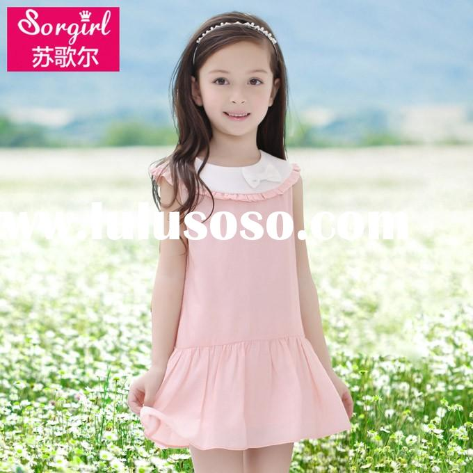 2015 children clothes frock design for baby girl birthday dress for girl of 3 year old