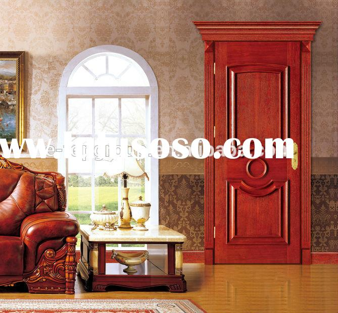 E-TOP luxury Oval Decoration Line high quality modern wood door pictures