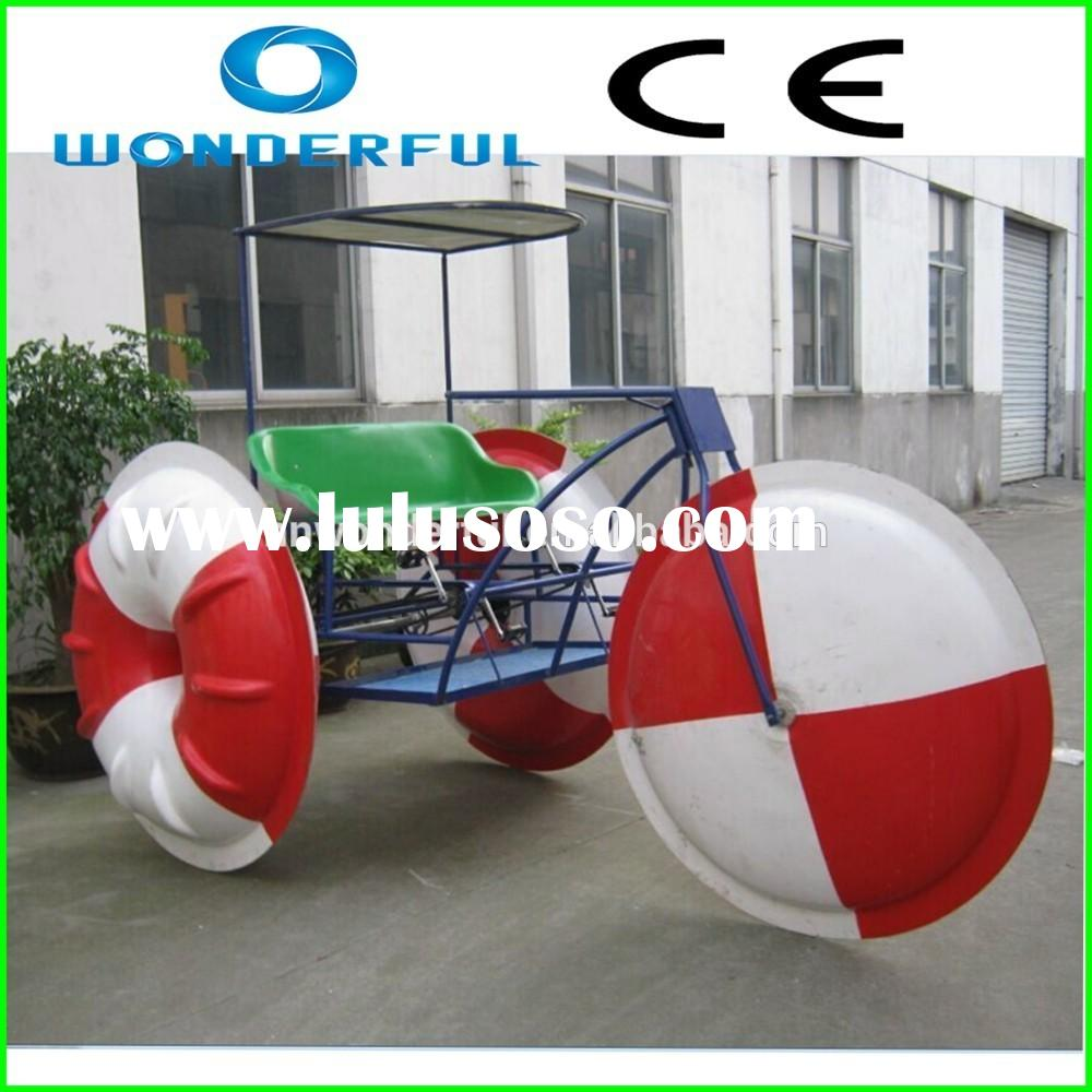 giant inflatable water park adult 3 wheel quad water tricycle bike water pedal bike