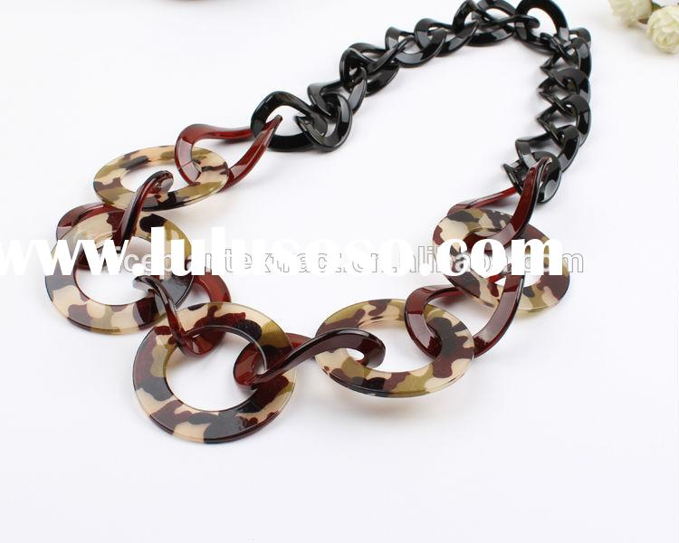 2015 Hot new necklaces jewelry cheap wholesale unique handmade chunky necklace fancy chunky statemen
