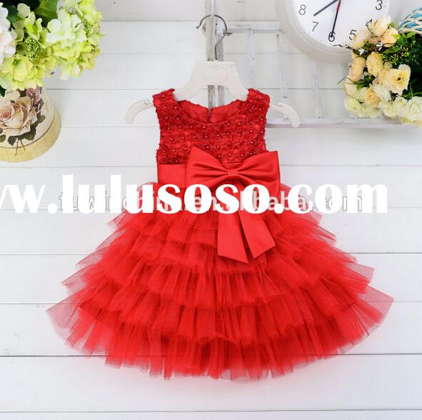 2015 Latest new formal baby girl party dress children frocks designs
