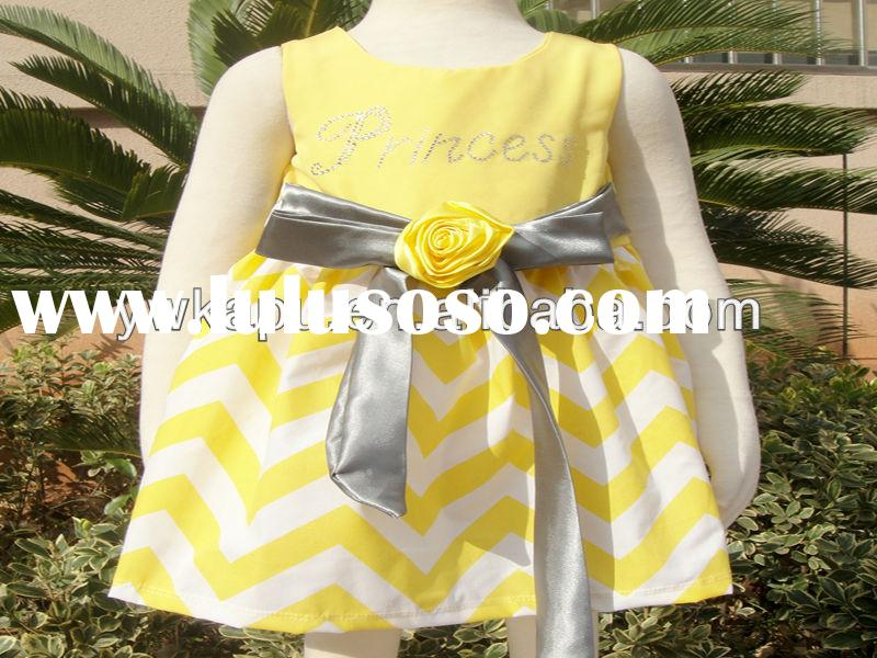 Cotton wholesale baby girl party dress frocks designs for kids