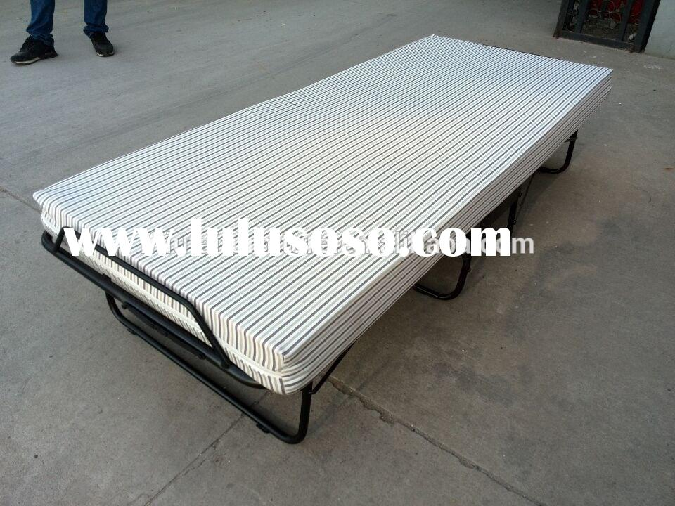 Folding bed frame with Foldable Mattress