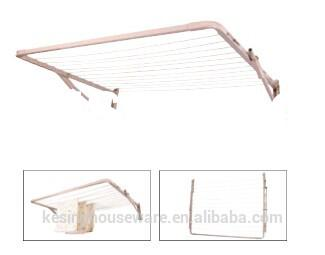 Folding/Foldable Wall Mount Clothes Drying Rack Galvanized Steel Foldable Laundry Hanger/Rotary Drye