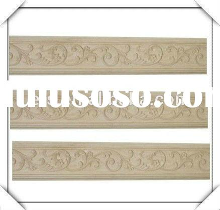 Hand carved decorative solid wood mouldings for furniture decoration