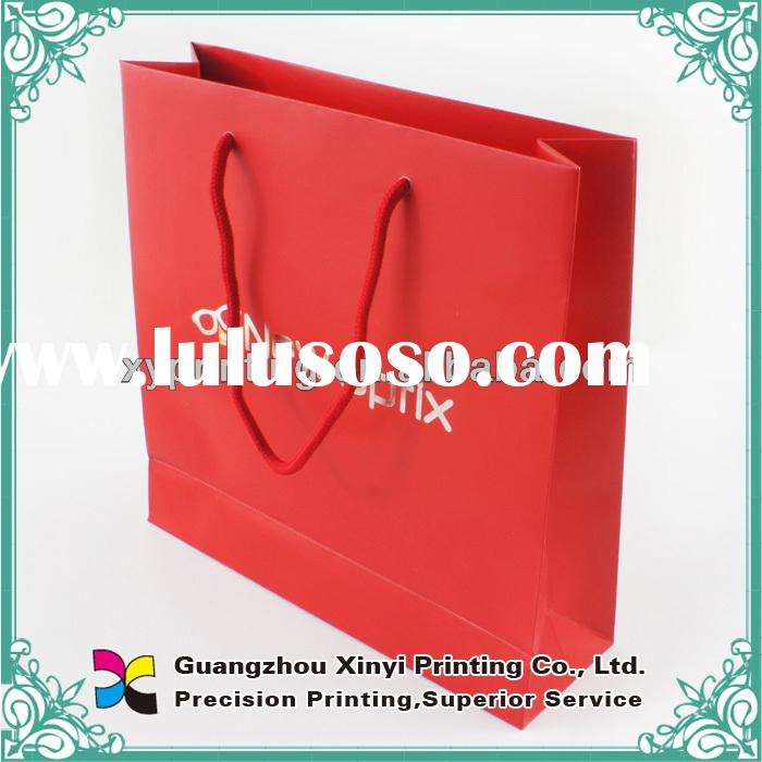 High quality printed decorative paper bags for gift packaging