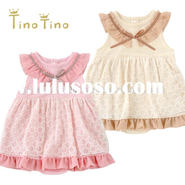 Japan wholesale cute and high quality chiffon hot selling baby girl party dress children frocks desi