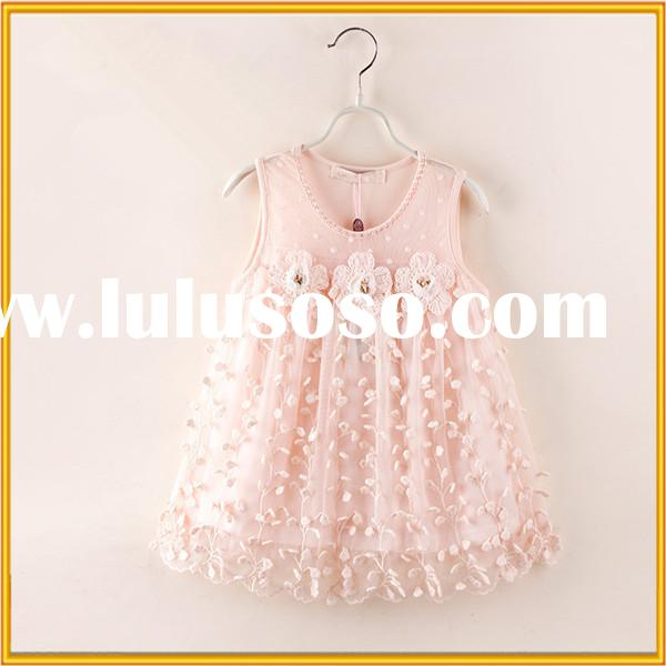 New arrival kids clothes 2015 frock design for baby girl beautiful flower print girls summer dress