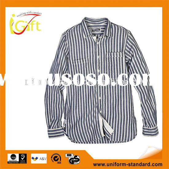 New fashion 100% cotton Oxford check pattern new design long sleeve men's casual latest form