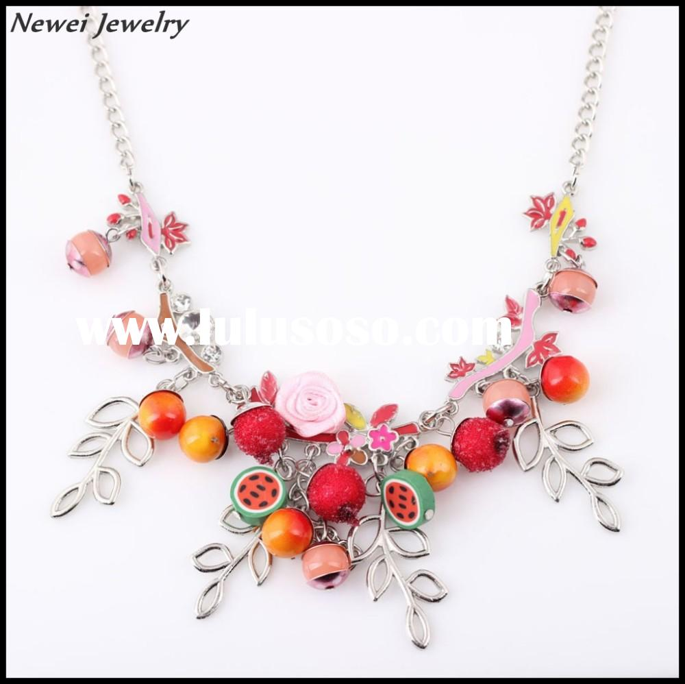 Newei 2015 Fashion Jewelry Unique Handmade Colorful Collar Necklace Alloy Chain Necklace For Women