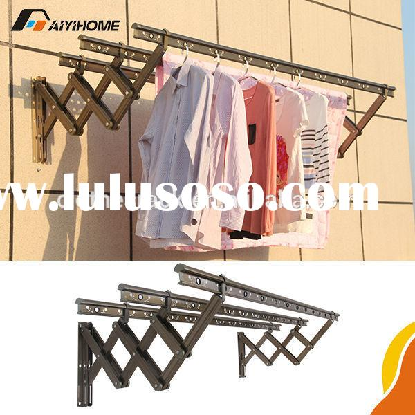 Push-pull wall mounted clothes drying rack,Aluminium wall mounted folding clothes drying rack,2 mete