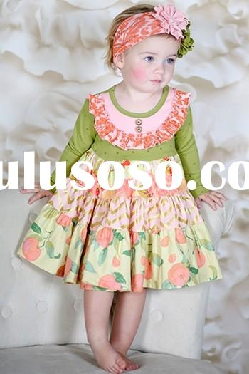 Wholesale cute baby dresses latest baby dress frocks design baby frock dress for girl