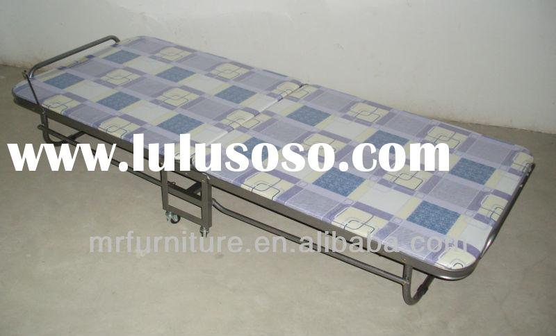 metal frame folding bed with mattress for with K/D Structure