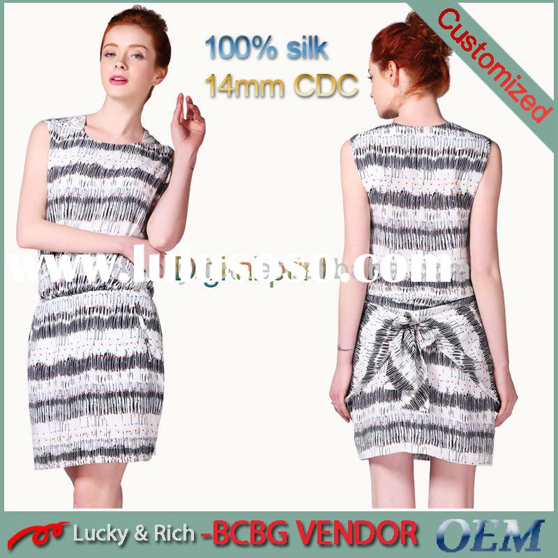 new 2014 hot sale china supplier custom wholesale cheap print latest dress patterns for ladies