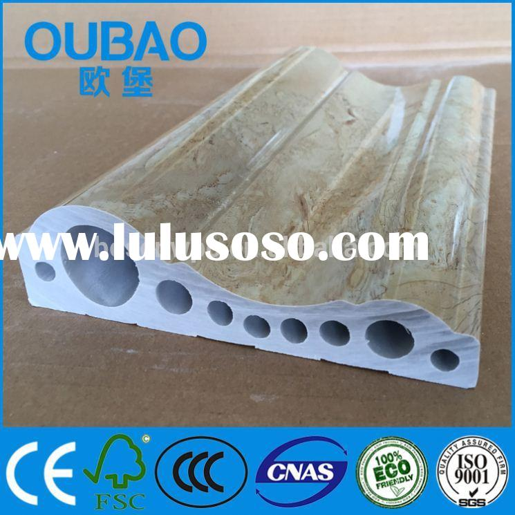 wall decorative faux marble PVC skirting wood decorative furniture moulding