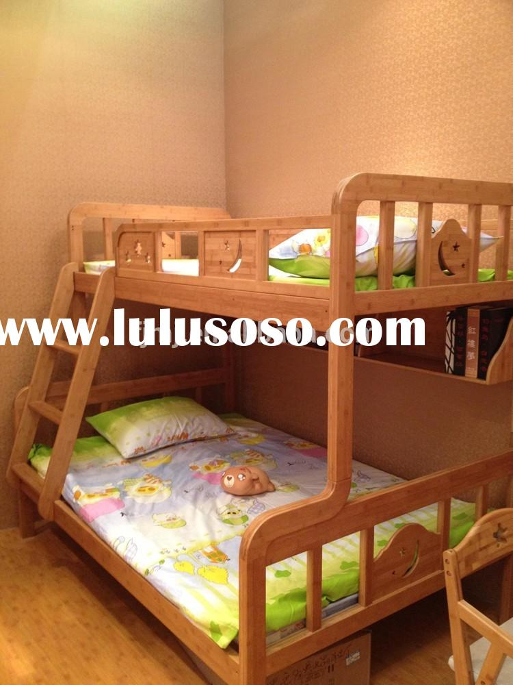 08CP06 New model hot sale bamboo material kid double bunk bed for wholesale
