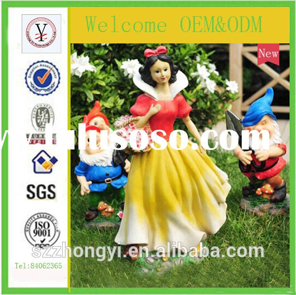 2014 factory custom-made high quality resin snow white and seven dwarfs