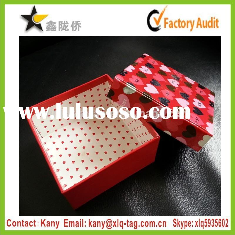 2015 High quality custom cute small decorative cardboard boxes with lids