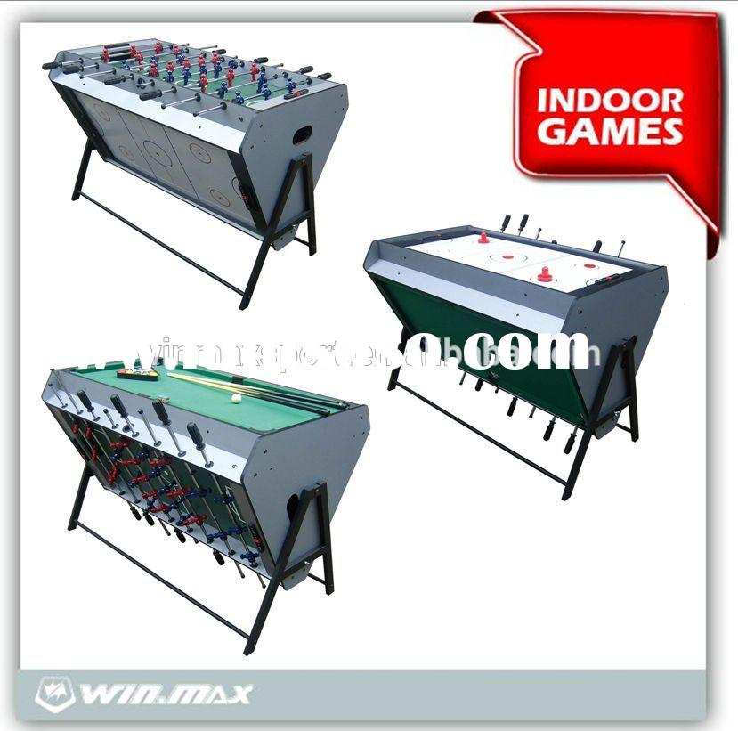 3 in 1 multi purpose game table/multi game craft hockey table